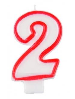 """Świeczka cyfra - """"2"""""""