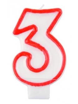 """Świeczka cyfra - """"3"""""""