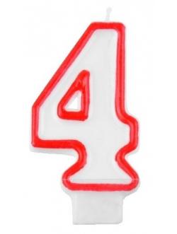 """Świeczka cyfra - """"4"""""""