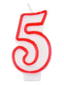 """Świeczka cyfra - """"5"""""""