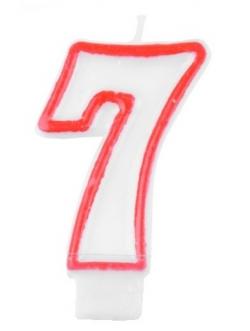 """Świeczka cyfra - """"7"""""""
