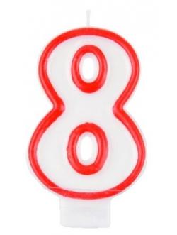 """Świeczka cyfra - """"8"""""""