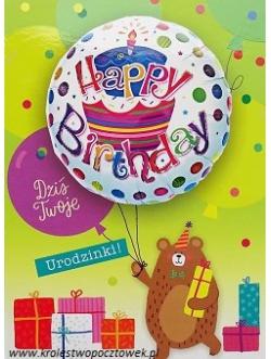 Karnet z balonem...